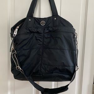 Lululemon large quilted gym tote/crossbody